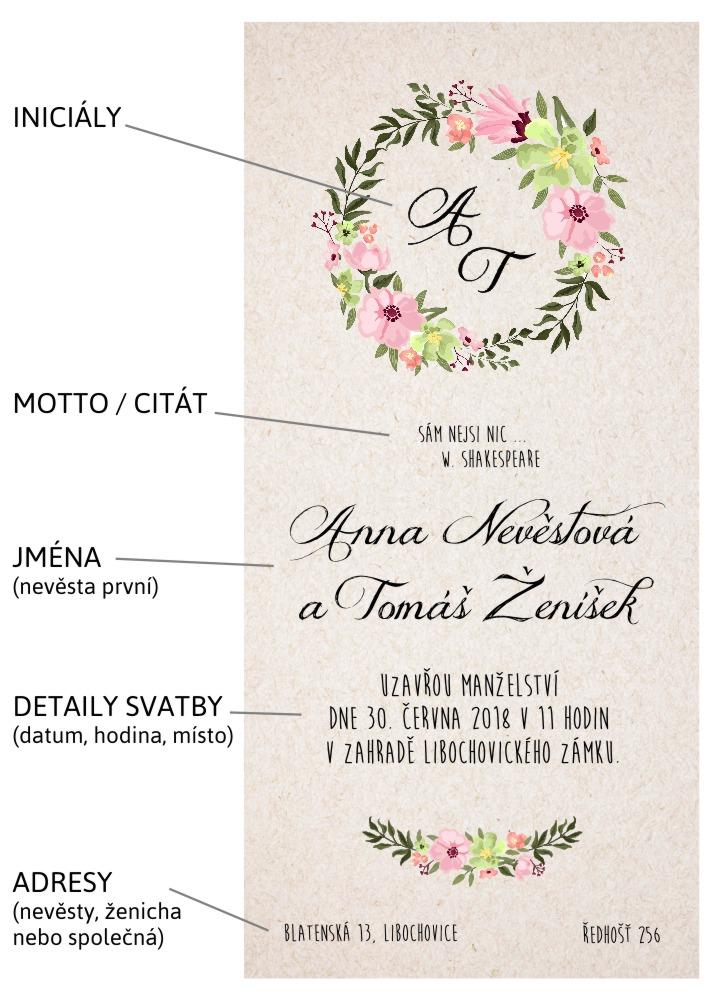 text na svatební oznámení