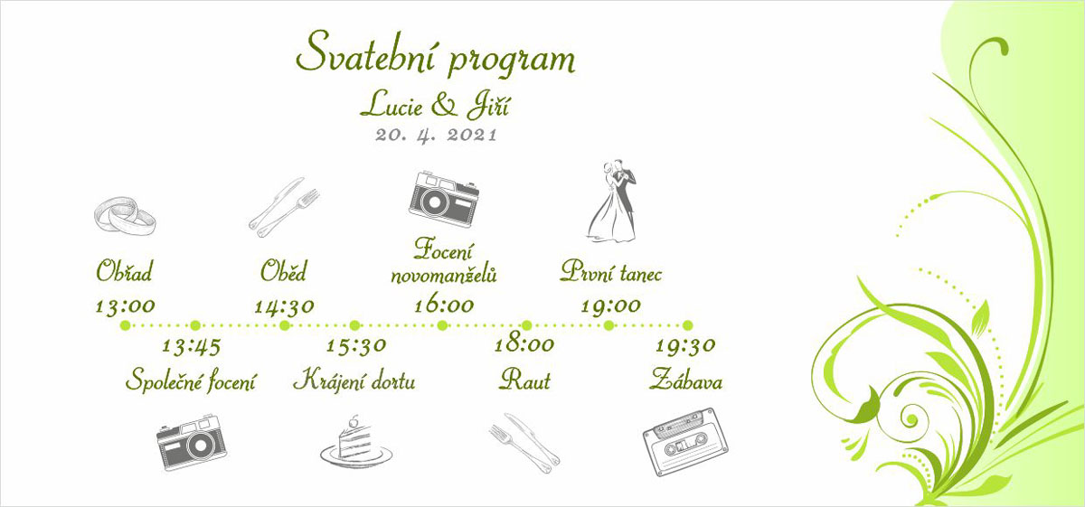 Green wedding timeline