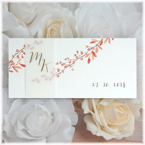 Autumn Wedding Invitaions