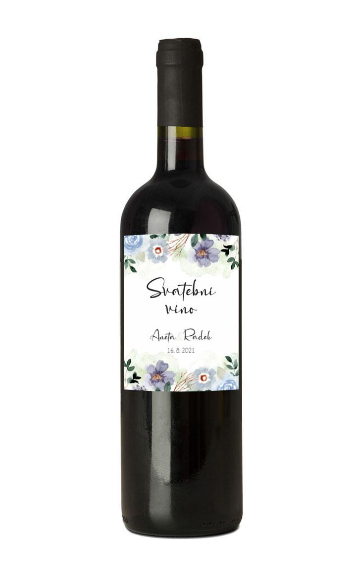 Etiketa na láhev svatebního vína