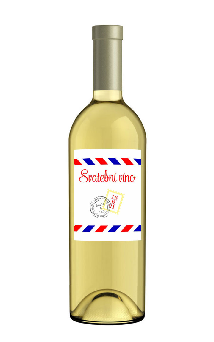Self-adhesive bottle label