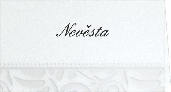 Svatební jmenovky na stůl