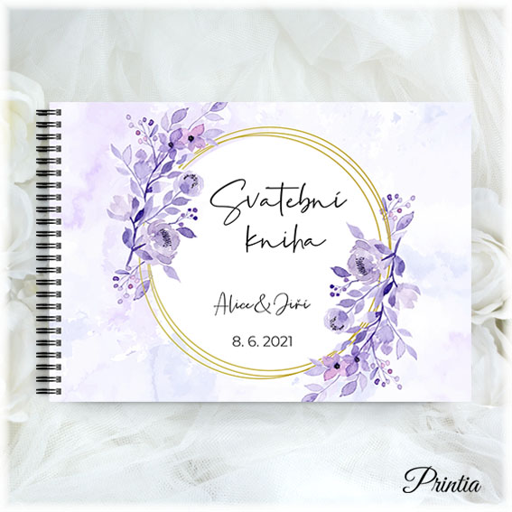Purple wedding book