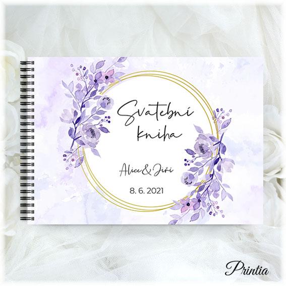 Fialová svatební kniha