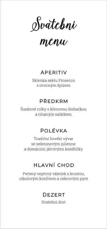 Univerzální svatební menu