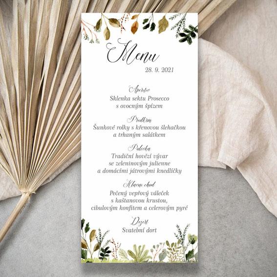 Rostlinné svatební menu