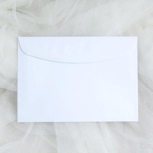 White envelopes D6