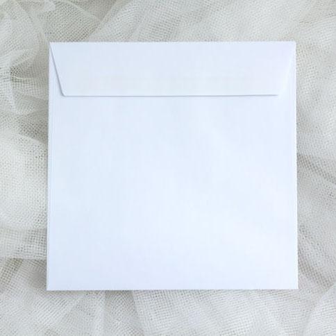 Obálky bílé čtvercové