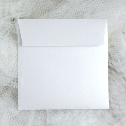 Obálky perleťové čtvercové
