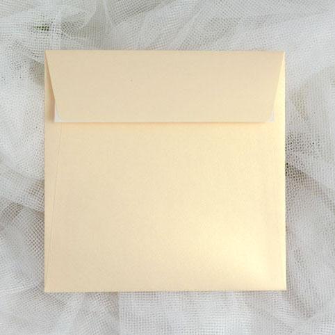 Obálky čtvercové vanilkově zlaté