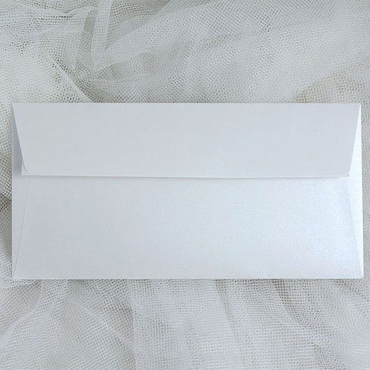 Pearl white envelopes DL
