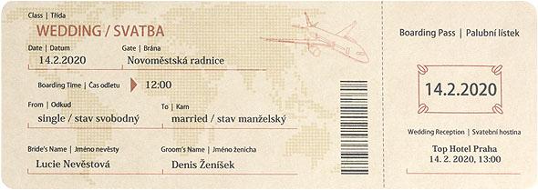 Svadobné pozvánky