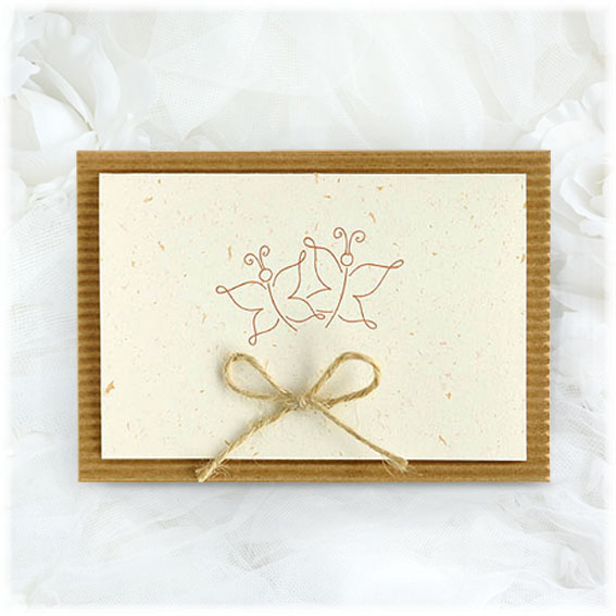 Butterfly Nature Wedding invitations recycled paper