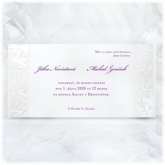 Classic Wedding Invitations Embossed