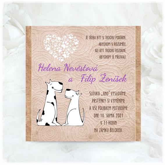 Dog wedding invitations