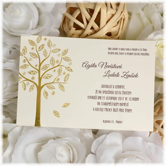Svatební přání zlatý strom