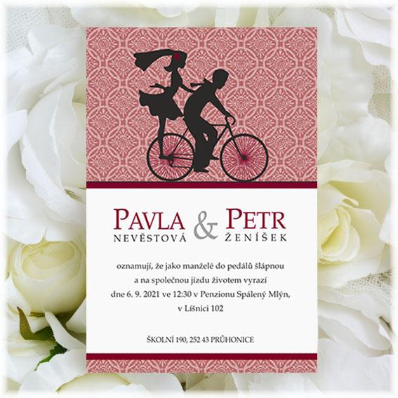 Svatební oznámení kolo