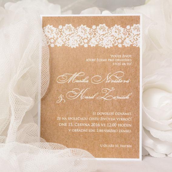 Rustikální svatební oznámení