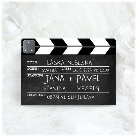 Wedding Invitation Film Flap
