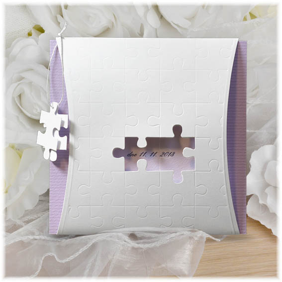 Puzzle Wedding Invitation