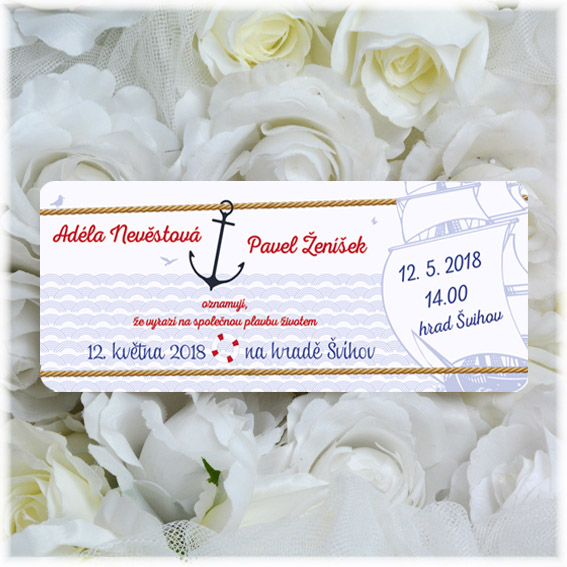 Wedding Invitation as boarding pass
