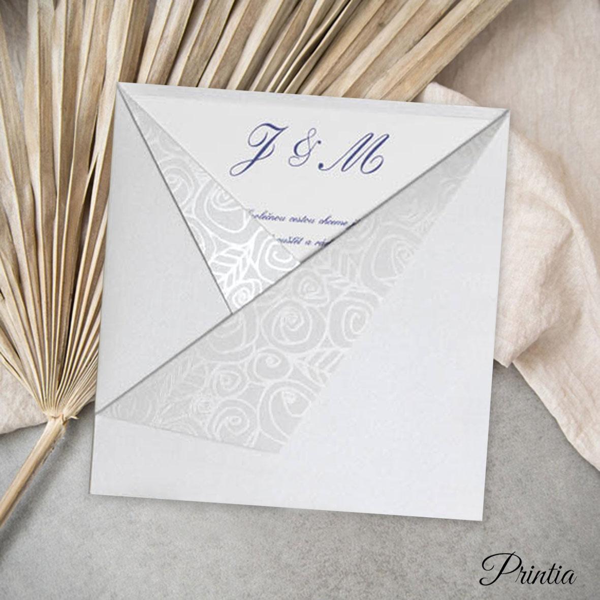 Svatební oznámení v perleťové kapse