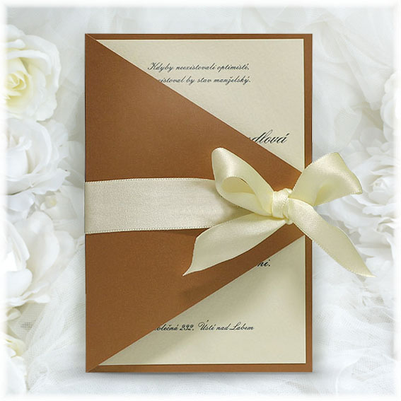 Wedding Invitations with ivory bow