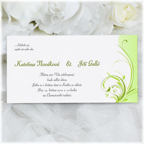 Wedding Invitations ornamental green