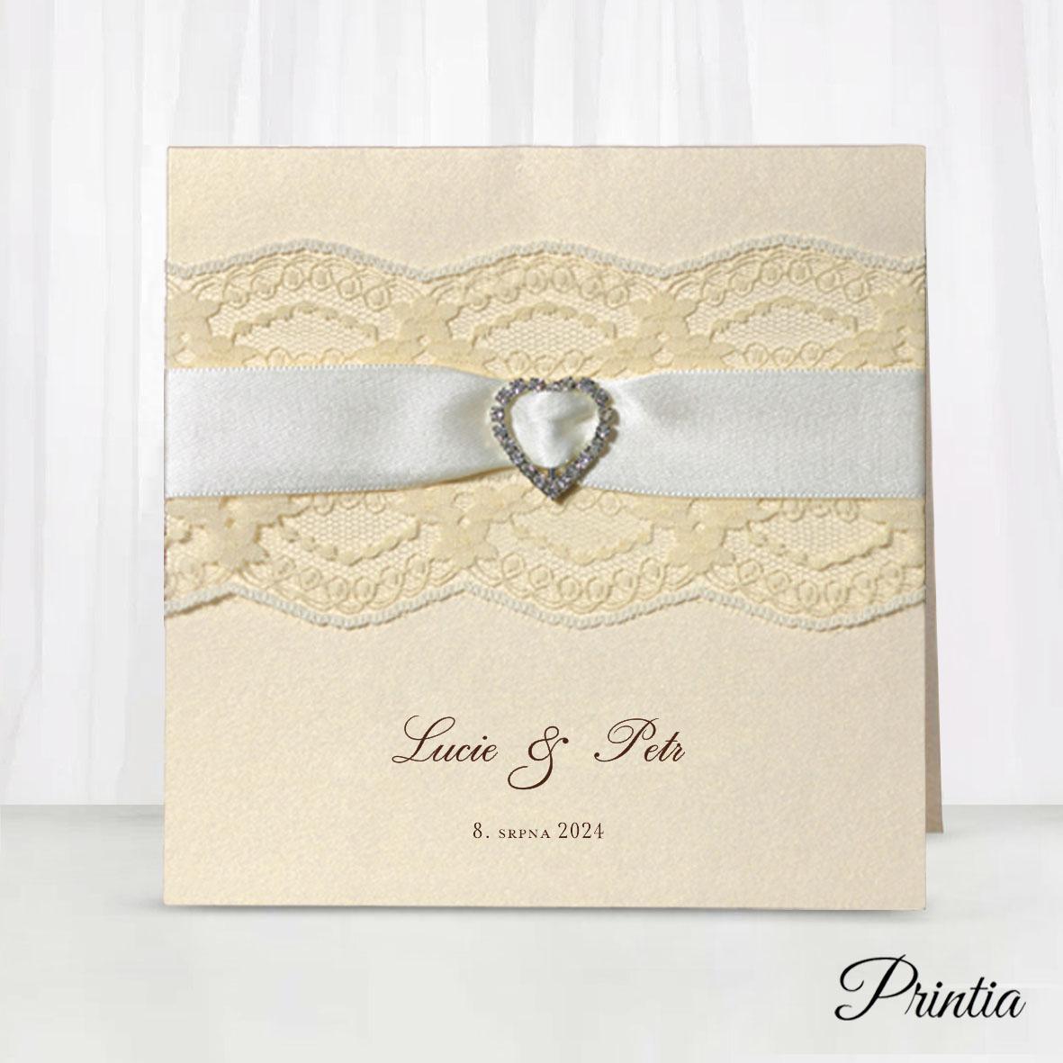 Krajkové svatební oznámení