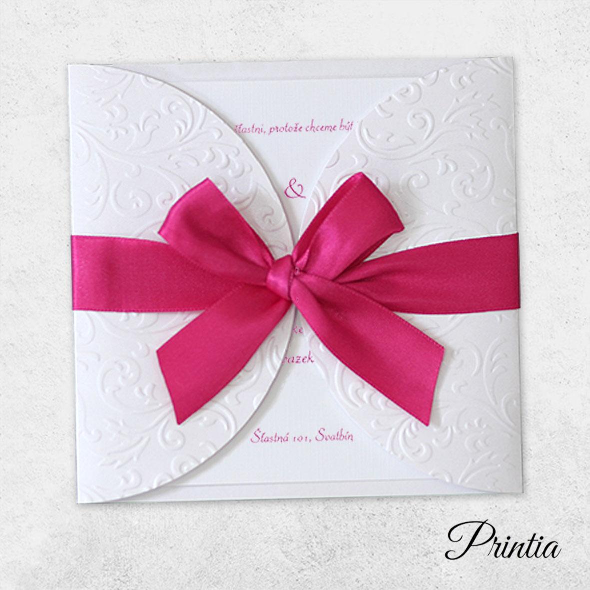 Luxury Wedding Invitations with ribbon