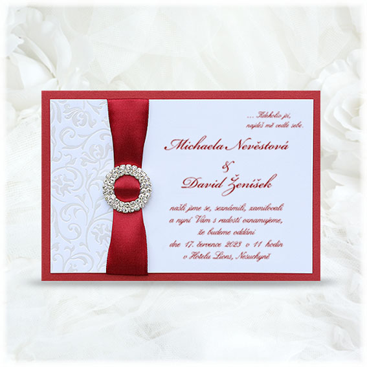 Luxury Wedding Invitation with Buckle