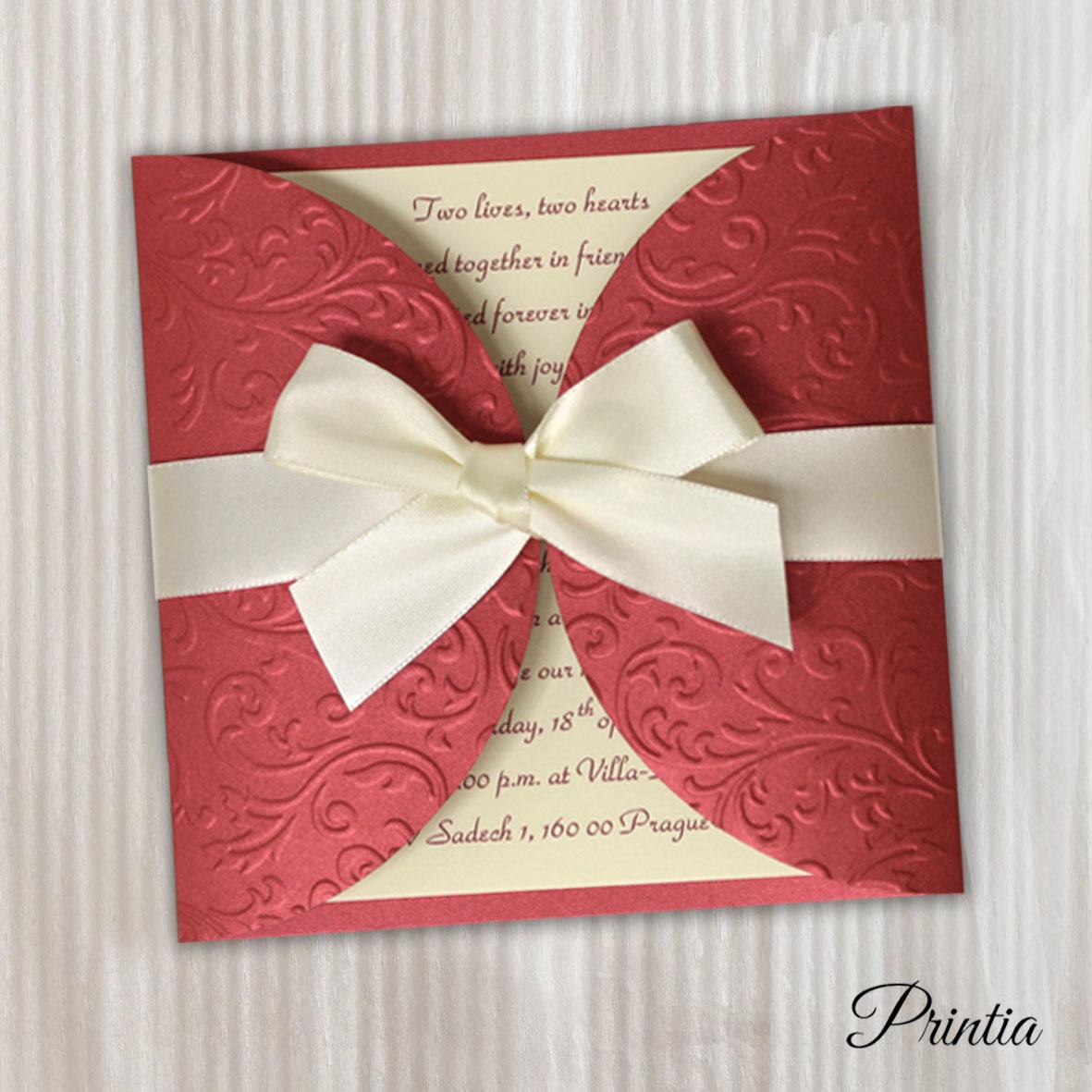Svatební oznámení bordó