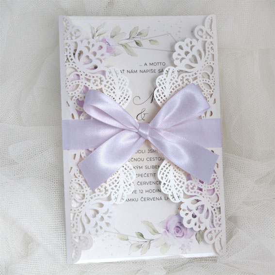 Luxury Wattercolor Wedding Invitation