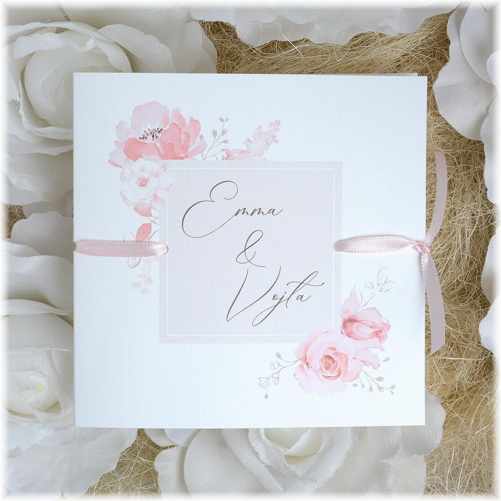 Svatební oznámení květinové