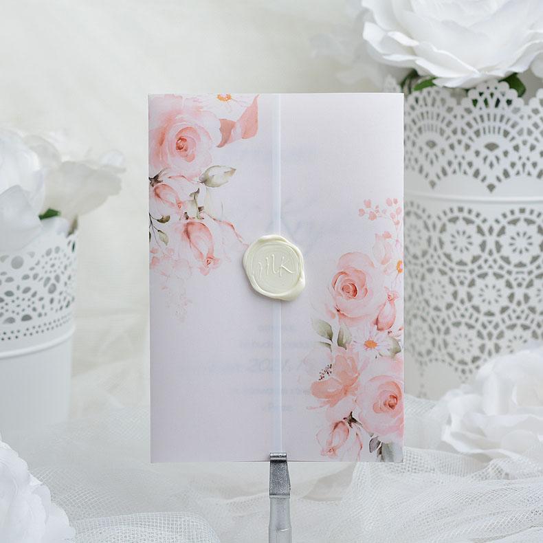 Svatební oznámení s bílou pečetí