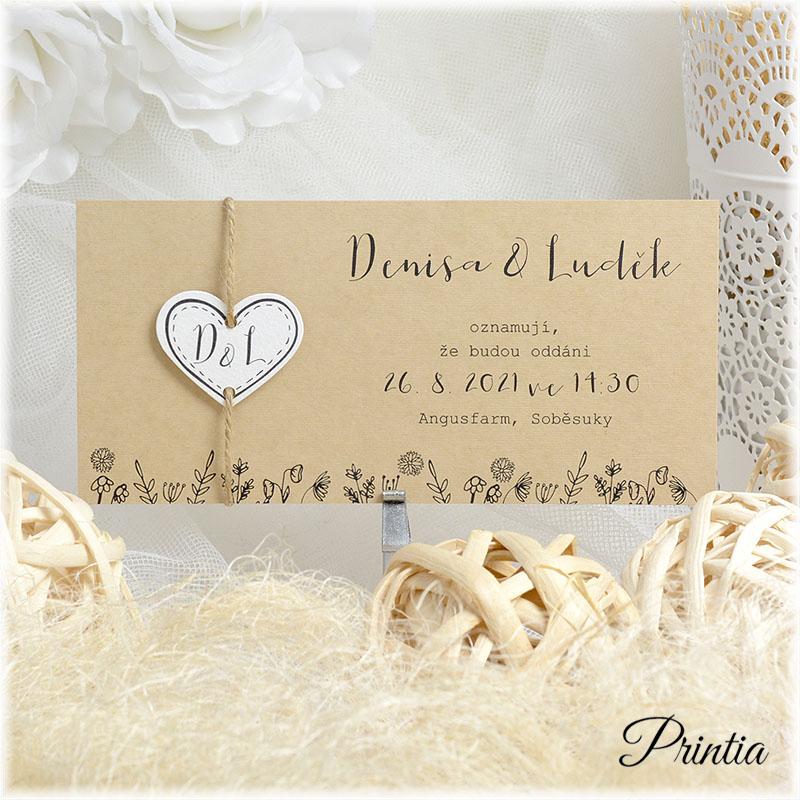 Svatební oznámení přírodní