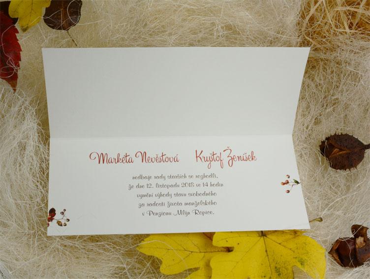 Svatební oznámení SK56