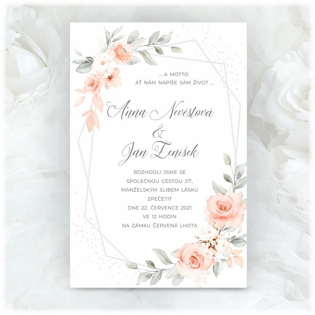 Svadobné oznámenie s kvetinami