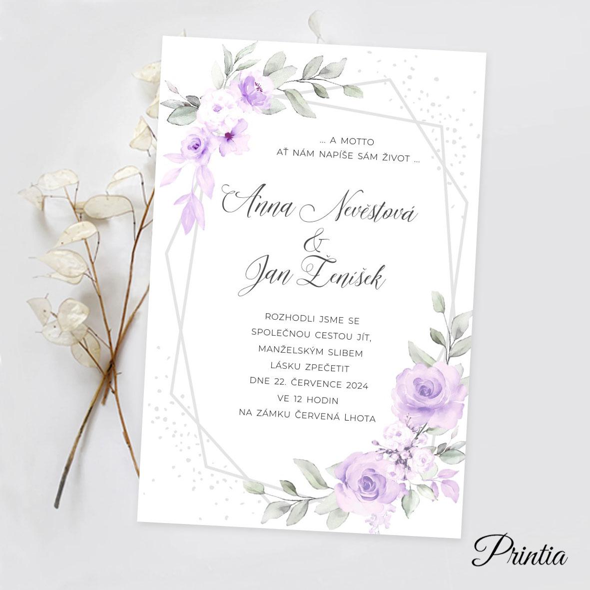 Svatební oznámení akvarel