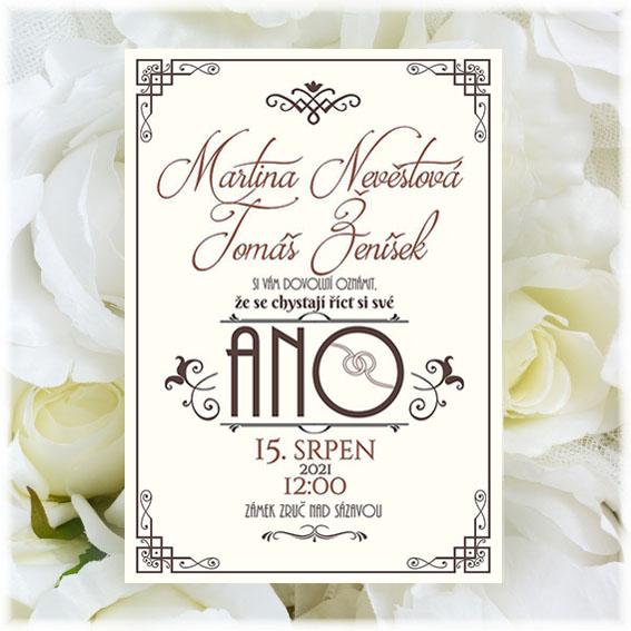 Art deco Wedding Invitation