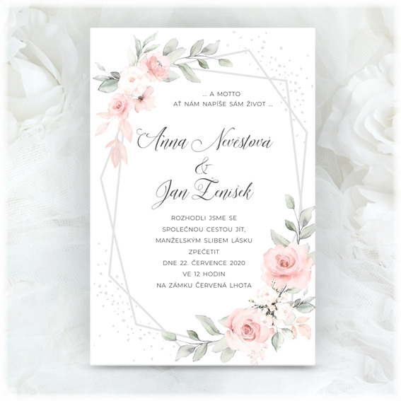 Wattercolor Wedding Invitation