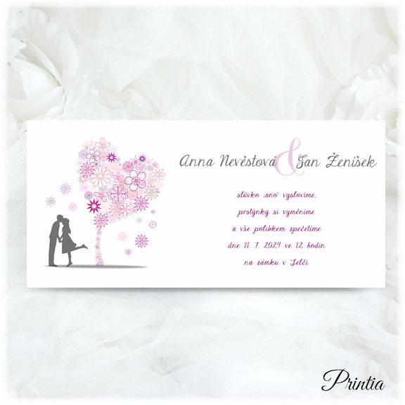 Jarní svatební oznámení