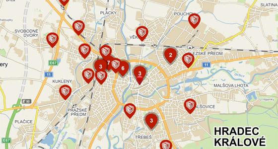 Výdejní místa v Hradci Králové