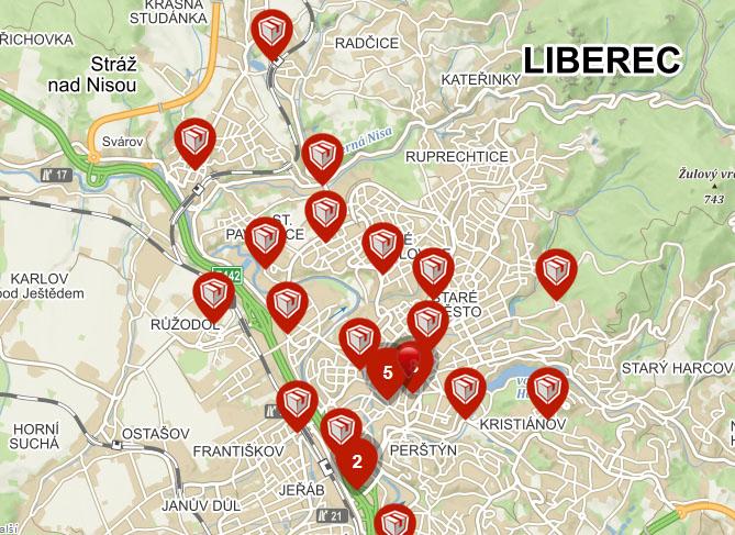 Výdejní místa Liberec