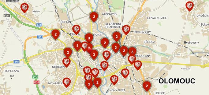 Výdejní místa Olomouc