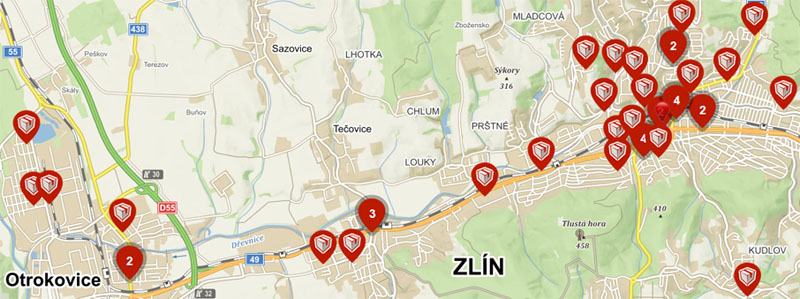 Výdejní místa v Ústí nad Labem