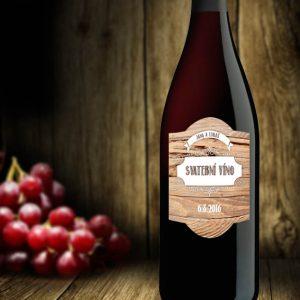 etiketa samolepka na svatební víno