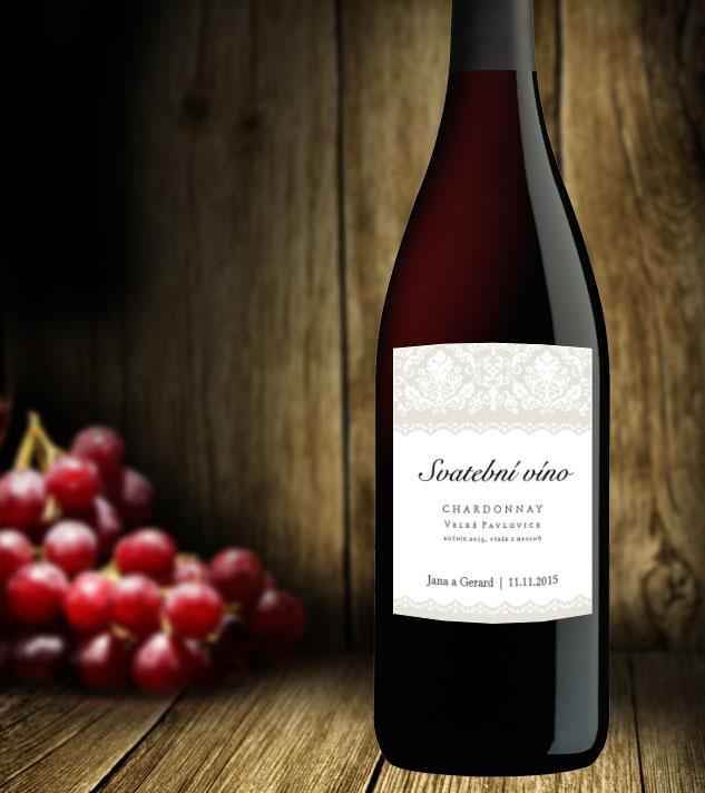 samolepící etikety na víno