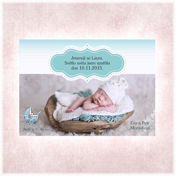 Oznámení o narození dítěte