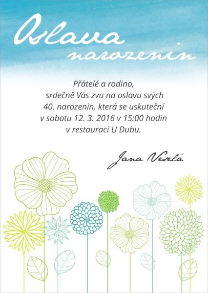 Narozeninové pozvánky
